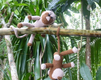 Crochet Pattern Amigurumi Monkey PDF - Monkies amigurumi Toy crochet pattern - Instant DOWNLOAD