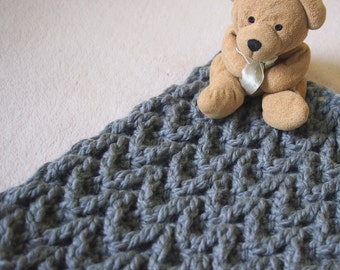 Crochet PATTERN chunky blanket, arrow bulky afghan, cozy throw, home decor, nursery, baby shower gift, DIY PDF instant download