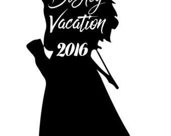 Disney Vacation Merida tshirt design 2016