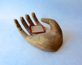 Handmade Wooden Curved Hand, Business Card Holder, Jewelry Display