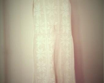Crochet Dress, Handmade White Lace Dress, Simple Wedding dress