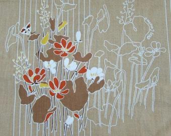 Oleg Cassini Sheet Fabric - Sheet Fabric - 70s - 80s floral - 3+ yds
