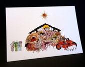 Akira Nativity Christmas Card