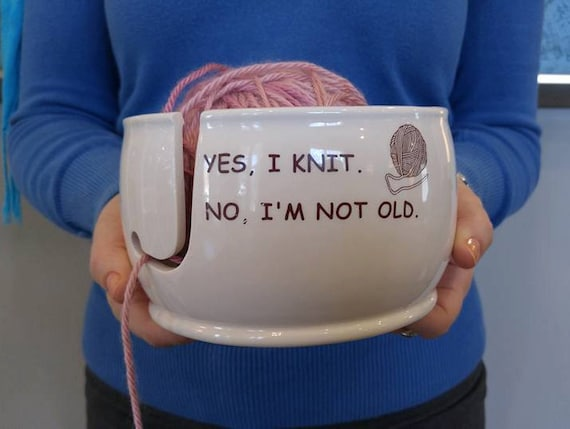 Knitting Or Crocheting Faster : Ceramic yarn bowl winter is coming knit faster game of