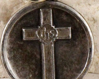 Vintage I am a Congregationalist Hayward Sterling Silver Religious Medal  on 18 inch sterling rolo chain