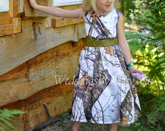 Camo flowergirl dress-- 'Sally'