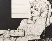 Naomi and Wynonna – Drypoint & Aquatint Etching