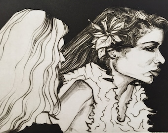 Bianca Jagger – Drypoint & Aquatint Etching