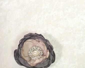 Fabric Magnolia Boutonniere  - Mens Wedding Boutonnieres - Rustic Boutonniere - Fall Boutonniere - Buttonhole - Country Wedding - Southern