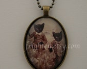 Cat Jewelry, Cat Necklace, Black Cats, Anthropomorphic, Animals in Clothes, Cats in Clothes, Twin Brothers, Victorian Boys