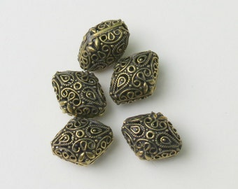 Gold Filigree Diamond Bead - 19X15X12mm - Sold by the PIECE - Bali Style