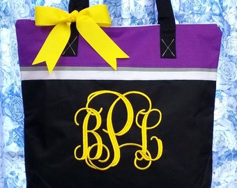 Personalized Tote Bag Monogrammed Bag Monogram Initials Personalized Gifts
