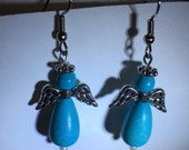 Turquoise Angel Earrings
