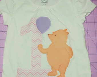 Winnie the Pooh Birthday Shirt or Bodysuit, multiple  years available, customizable