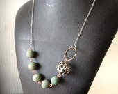 Mixed Metal and Agate Necklace