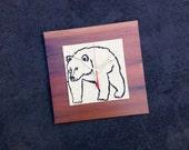 Bear Clock, Wood Clock, Cabin Decor, Gift for Dad, Reclaimed Wood