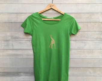 SALE tshirt, giraffe tee, size small