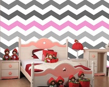 Just Peel and Stick Chevron Wallpaper -  Bedroom ZigZag Self-adhesive Removable Fabric Wallpapers Seamless and Custom Colors  prt0023-d