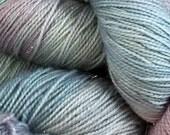 LAVENDER BLUE glitter superwash merino sock yarn