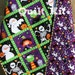 Halloween Quilt Kit, Whoelcloth Panel, Lap Throw Beginner Project, Northcott, Happy Haunting, Orange Black, Witch Skeleton Mummy Pumpkin