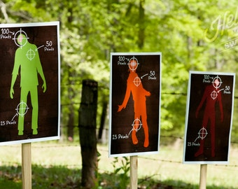 Nerf Zombie Targets - Party Printable Decorations - INSTANT DOWNLOAD