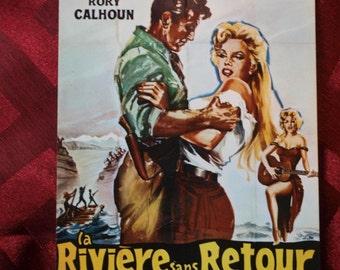 Marilyn Monroe La Riviere sans Retour Postcard River Of No Return 1970's card E3 Francoise Nugeron Film Motion Picture French R Mitchum