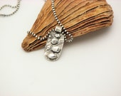 Silver Necklace Metal Work Jewelry Artisan Handmade Petite Necklace Sculpted  JOURNEY Stepping Stones Eco Friendly