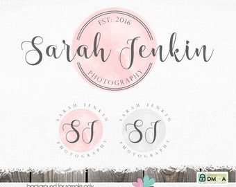 photography logo watercolor logo premade logo circular logo circle logo photography logos and watermarks sewing logo blogger logo blog logo