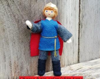 Prince Doll - Castle Dollhouse - Waldorf Castle -  Bendy Doll - Boy Doll