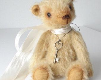 Hand made Collectable artist mini teddy bear stuffed animal OOAK Theodore