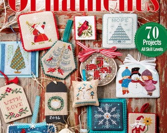 10% off Pre-Order 2016 Christmas Ornament Issue : Just Cross Stitch patterns magazine Hands on Design Prairie Schooler holidays