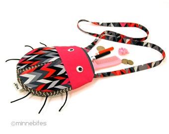 Ladybug Purse by MinneBites / Small Handmade Purse - Cute Cross Body Purse for Girls - Lady Bug Toddler Birthday Gift - Ready to Ship