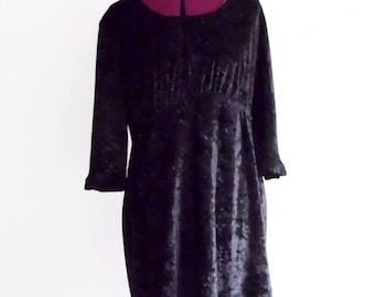 Sale 30% off Little Black Velvet Babydoll Dress