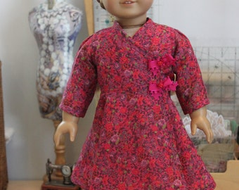 Contemporary Wrap Dress in Liberty of London Cotton Voile for 18 Inch Doll, C197