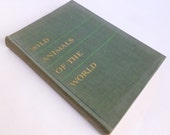 Wild Animals of the World Book with Animal Portraits by Mary Baker 1948 A to Z Reference Book