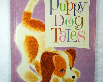 Puppy Dog Tales Book 1962 Nita Jonas Dale Maxey Vintage Children's Book Large Format Super Cute Dog Pictures