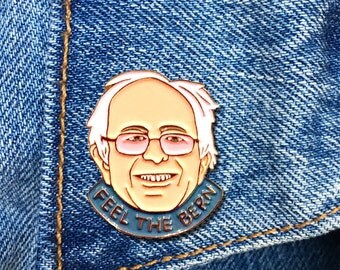 Bernie Sanders Pin, Bernie Pin, Feel The Bern, Enamel Pin, President, Soft Enamel Pin, Jewelry, Art, Gift (PIN39)