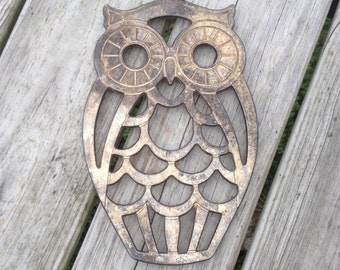 SIlverplated Owl Trivet Hot Plate