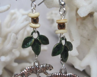 Tiger Safari Dangling Earrings