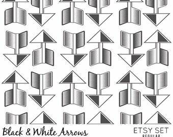 black and white arrows - etsy set