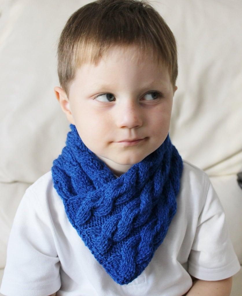 boys scarf blue scarf boys snood scarf