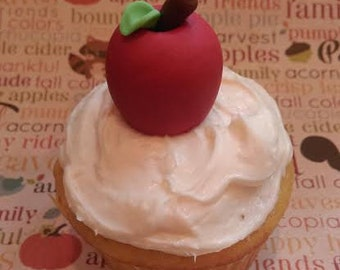 Fondant Apples -  Edible Cake and Cupcake Toppers - Set of 12