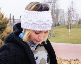 knitted workout headband earwarmer valentines day christmas gift for her handmade knit headband