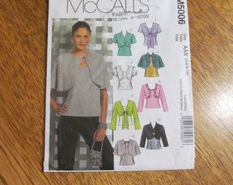 ELEGANT Shrug, Bolero Jacket, Lined Capelet & Matching Tank Top - CHOOSE Your Size - UNCUT Sewing Pattern McCalls 5006