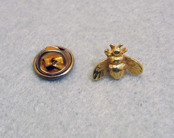 Golden Bee Tie Tack or Lapel Pin