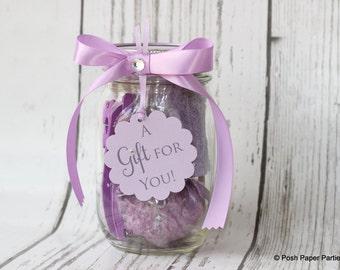 Mani-Pedi in a Jar - Gifts in a Jar - Baby Shower Prize - Bridal Shower - Teacher's Appreciation