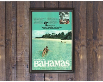 Bahamas Travel Poster • Relaxing Beach Photo • It's Better in the Bahamas • Vacation Destination Ad • Pool Wall Art Beach House Art Print