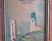 Advertising Framed Wall Thermometer Circa 1930s