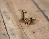 Star Cuff Links Nautical Star Cufflinks Punk Rock Cufflinks Mens Accessories made with vintage buttons