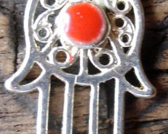 Red Moroccan small Hand  bead  (codeG)